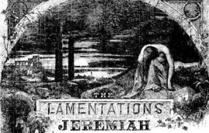 lamentation of Jeremiah